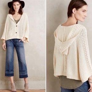 Anthropologie Rosie Neira Vienne Poncho Sweater S